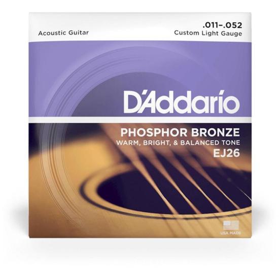 Encordoamento Para Violão EJ26 Bronze Fosforoso .011 D'ADDARIO