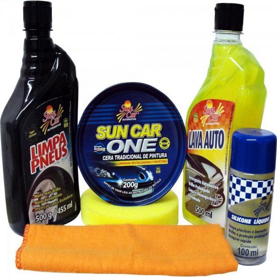 Kit de Limpeza Automotiva 6 Peças SUN CAR
