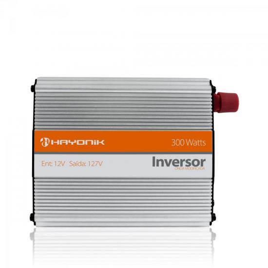 Inversor de Onda Modificada 12VDC/127V USB 300W HAYONIK