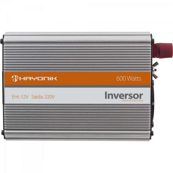 Inversor de Onda Modificada 12VDC/220V USB 600W HAYONIK