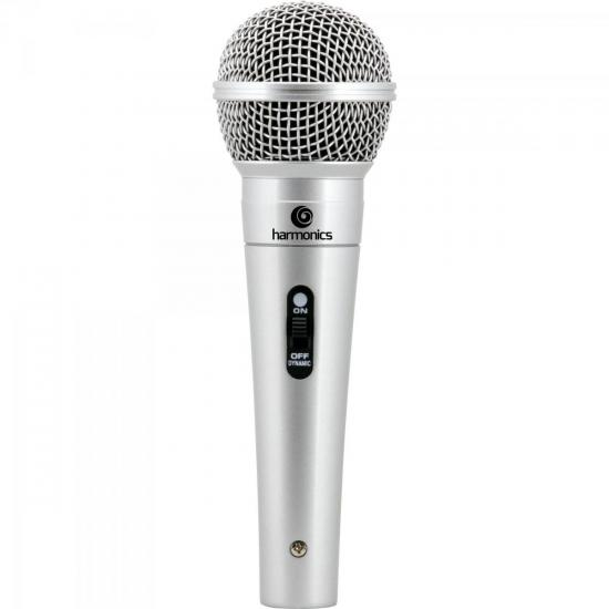 Microfone Dinâmico Supercardióide Cabo 4,5m MDC201 Prata
