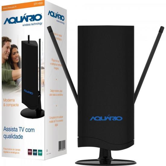 Antena Interna TV VHF/UHF/FM/HDTV Digital DTV4500 AQUÁRIO