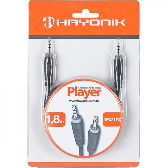 Cabo de Áudio Linha Player 1P21 1,8 Metros Preto HAYONIK