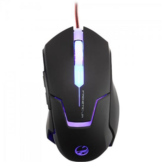 Mouse Gamer USB 4000DPI Frenetic Jr Preto TEAM SCORPION