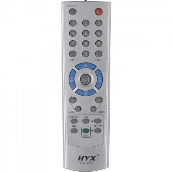 Controle Remoto para Receptor VT700/1000/2000 Cinza HYX