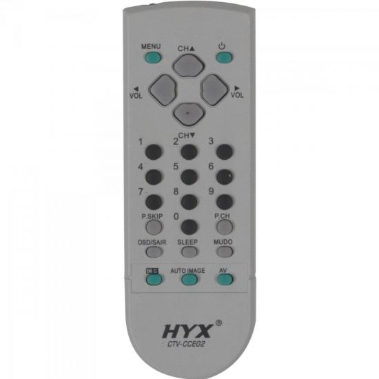 Controle Remoto para TV CCE CTV-CCE02 Cinza HYX