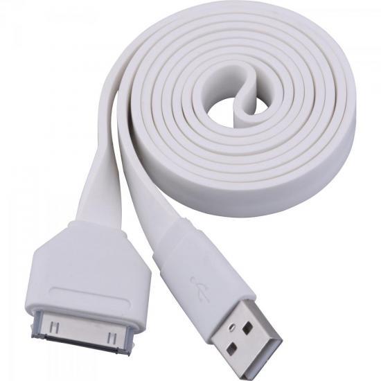 Cabo para Apple Flat 30 Pinos X USB 1 Metro UAF-401 Branco FORTREK