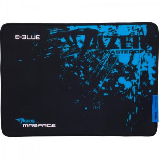 Mouse Pad Gamer MAZER CONTROL S Preto/Azul E-BLUE