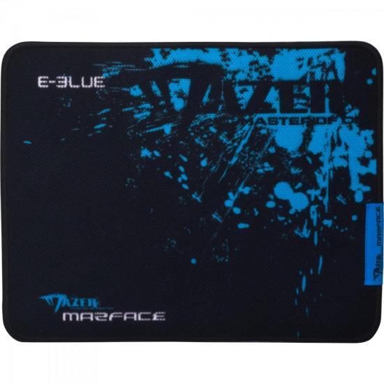 Mouse Pad Gamer MAZER CONTROL M Preto/Azul E-BLUE