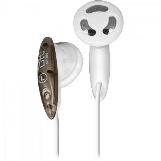 Fone de Ouvido EB-101 Branco e Preto LITE