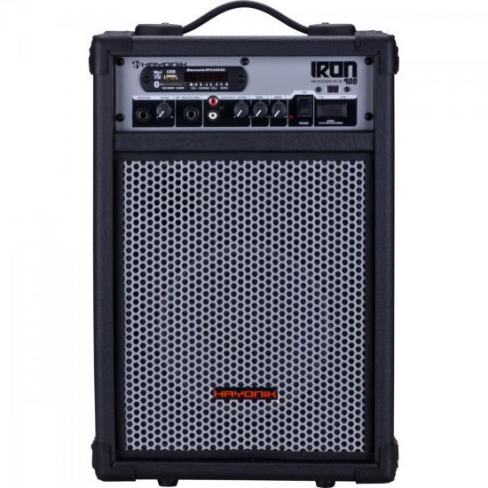 Caixa Multiuso 60W Bluetooth/USB/SD/FM IRON 400 Preta HAYONIK