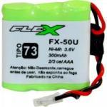 Bateria Universal Para Telefone sem Fio 300mAh 3,6V FX-50U FLEX
