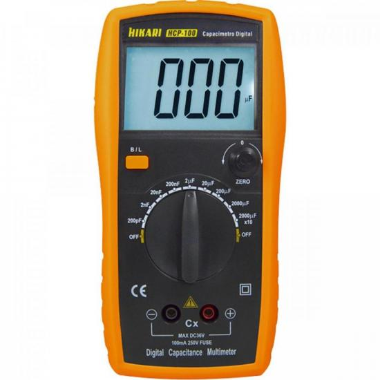 Capacímetro Digital HCP100 Amarelo HIKARI