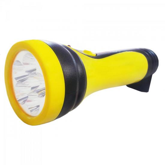 Lanterna Recarregável com 6 LEDs Bivolt Preto/Amarelo 7321 BRASFORT