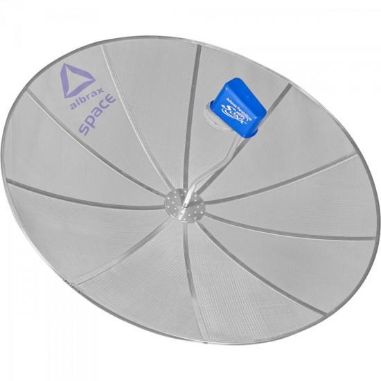 Antenas Parabólicas SPACE 1,70m para Parede Kit com 4 ALBRAX