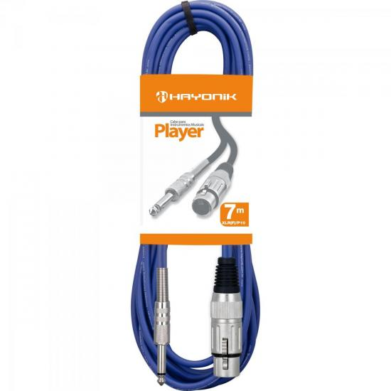 Cabo para Microfone XLR(F) X P10 7m PLAYER Azul HAYONIK
