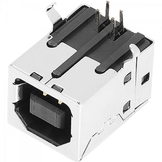 Conector USB Niquelado CN0787 Prata CONNFLY