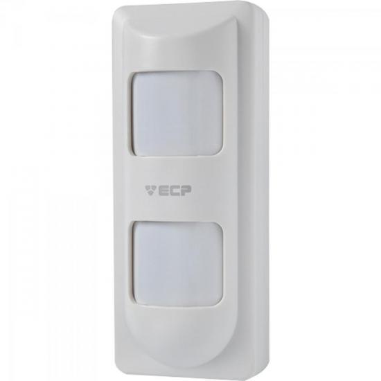 Sensor Infravermelho Passivo 3D Externo Microondas Duplo Branco ECP