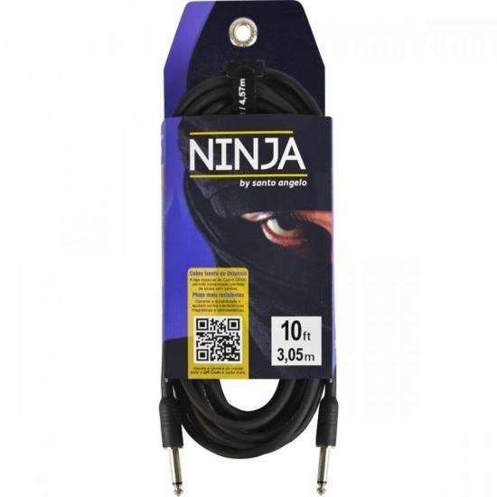 Cabo para Guitarra P10 Ninja 3,05m Preto SANTO ANGELO