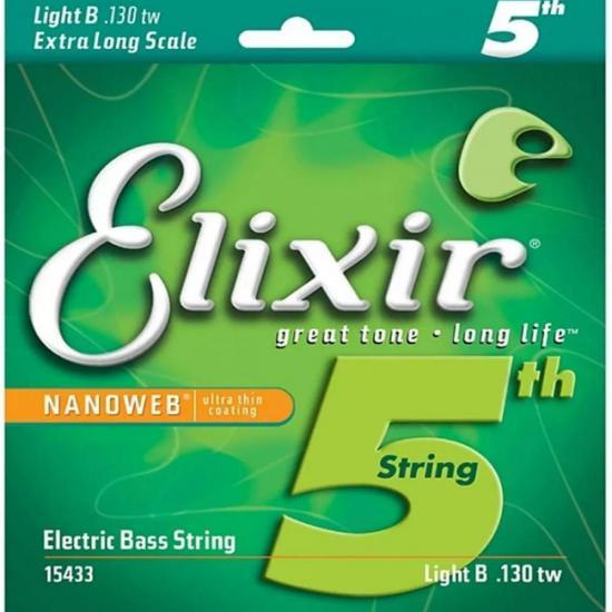 Corda Para Contra Baixo 5(a) Si 0.125 SUPER LIGHT NANOWEB ELIXIR
