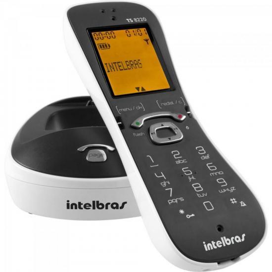 Telefone sem Fio Digital com Identificador de Chamadas Viva Voz TS8220 Branco INTELBRAS