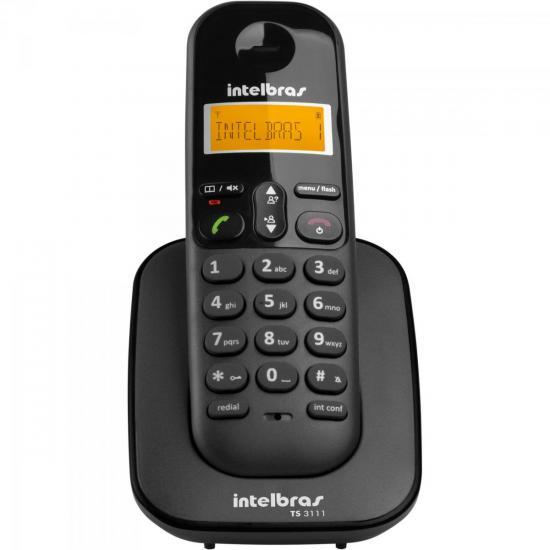 Ramal sem Fio Digital com Identificador TS3111 Preto INTELBRAS