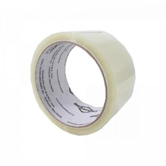 Fita Adesiva Para Embalagem 48mm X 45m Transparente BRASFORT