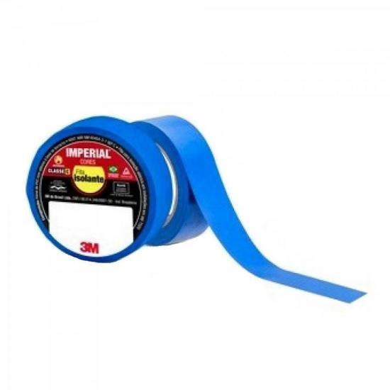 Fita Isolante 18mm X 10m IMPERIAL Azul 3M