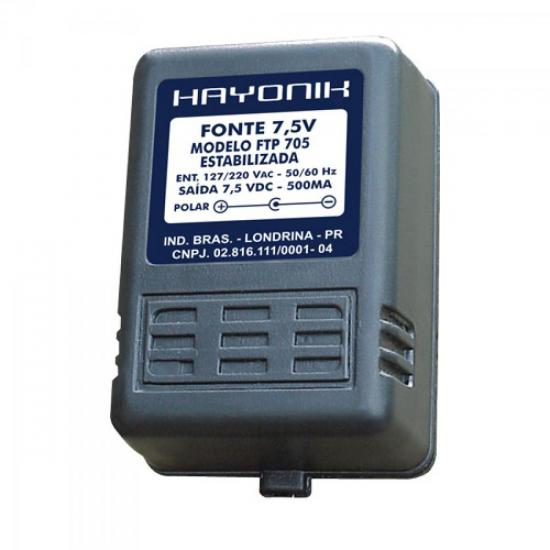 Fonte FTP-705 7,5VDC 500mA HAYONIK
