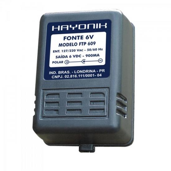 Fonte FTP-609 C- 6VDC 900mA HAYONIK