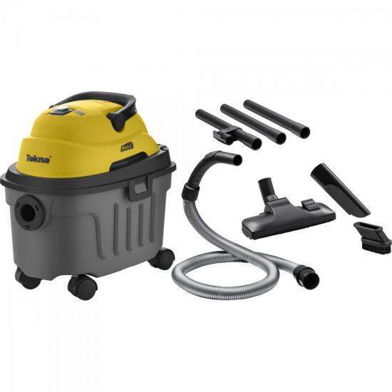 Aspirador de Pó e Água Com Escovas 220V WORK10 Amarelo e Cinza TEKNA