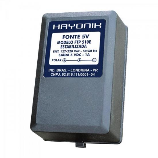 Fonte FTP510E 5VDC 1A Estabilizada P8 C+ HAYONIK