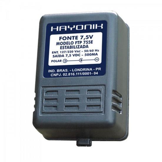 Fonte FTP755E 7,5VDC 500mA Estabilizada P4 HAYONIK