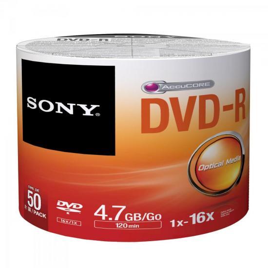 DVD-R 120min 4.7GB 16x 50DMR47SBZ2LA SONY