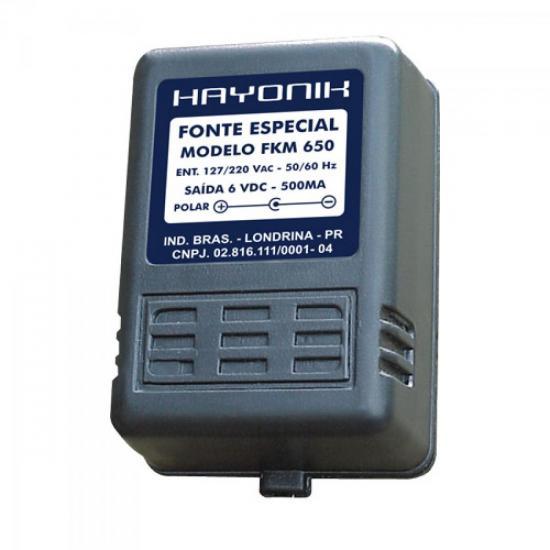 Fonte para Caixas Multimídias FKM650 6VDC 500mA HAYONIK