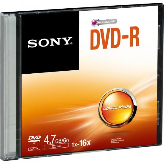 DVD-R Slim Case 120 min 4.7GB 16X DMR47SS SONY