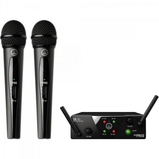 Microfone Sem Fio Wireless Mini Dual WMS40 Preto AKG