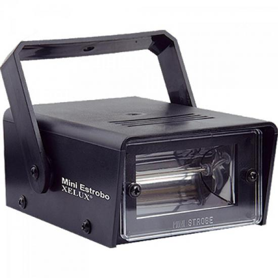 Strobo 35W 220V Com Suporte MINI Preto XELUX