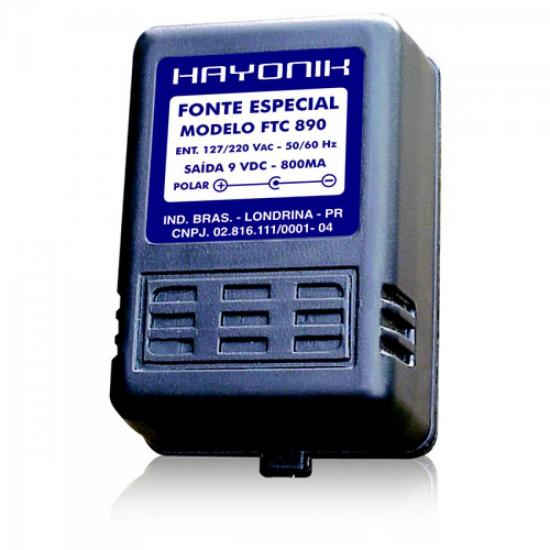 Fonte Para Teclado FTC890 9VDC 800mA P/KAWAI/CAS/ROL HAYONIK