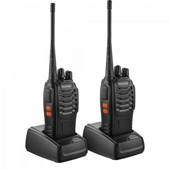 Par de Rádio Comunicador 8km Walkie Talkie TV003 MULTILASER