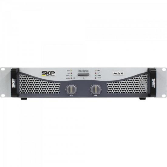 Amplificador Profissional Classe AB 700W MAX720 Cinza SKP