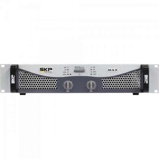 Amplificador Profissinal Classe AB 400W MAX420 Cinza SKP