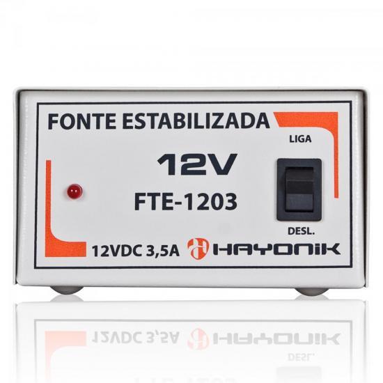 Fonte Estabilizada 12VDC 3,5A FTE-1203 HAYONIK