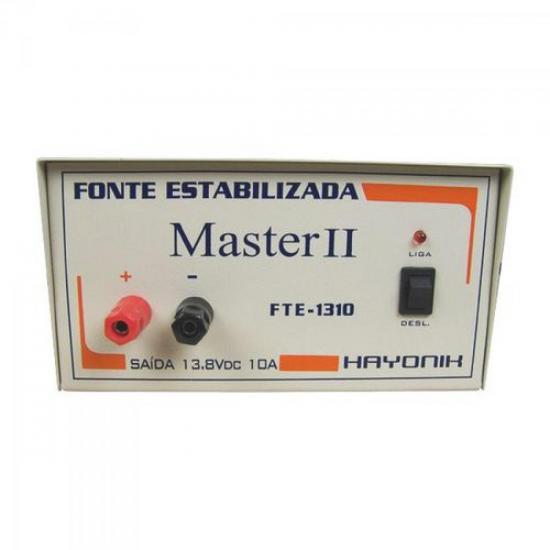 Fonte FTE1310 MASTER 13,8VDC 10A Estabilizada HAYONIK