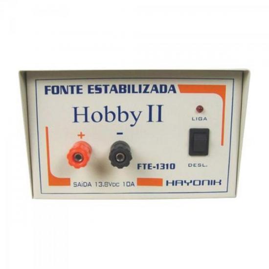 Fonte FTE1310 HOBBY 13,8VDC 10A Estabilizada HAYONIK