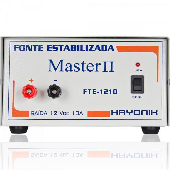 Fonte FTE1307 MASTER 13,8VDC 7A Estabilizada HAYONIK