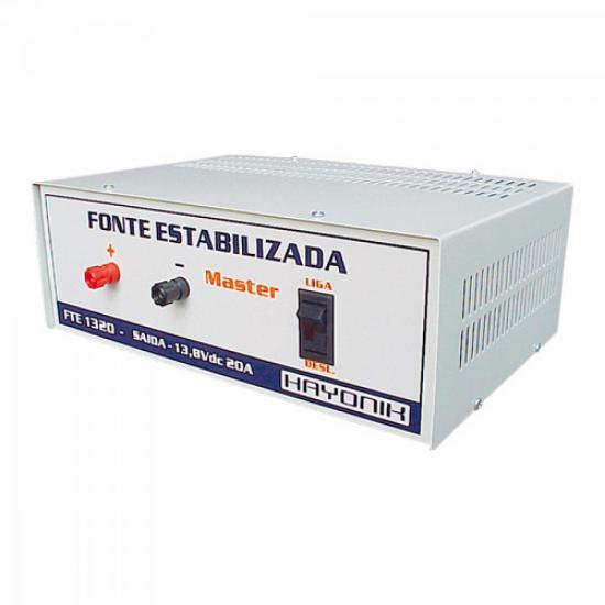 Fonte Estabilizada Master FTE1320 P/ Rádio PX 13,8VDC 20A HAYONIK