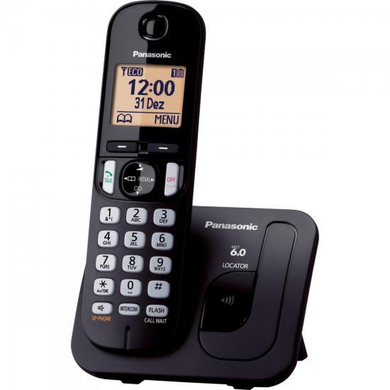 Telefone sem Fio com ID/Viva Voz KX-TGC210LBB Preto PANASONIC