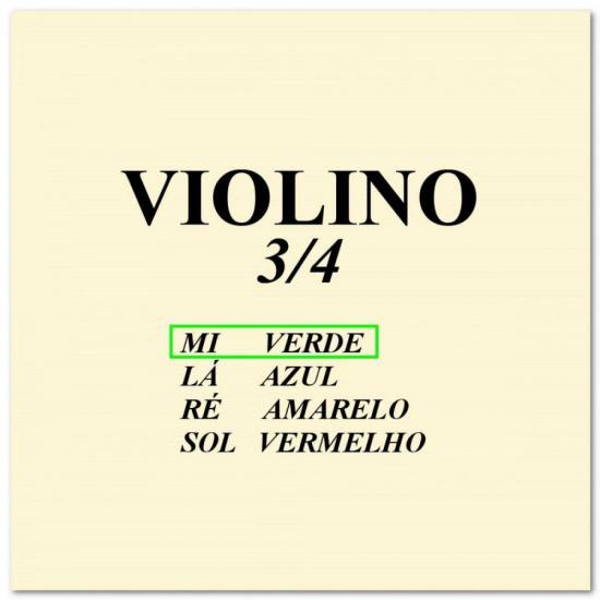 Corda p/ violino 3/4 MI CALIXTO