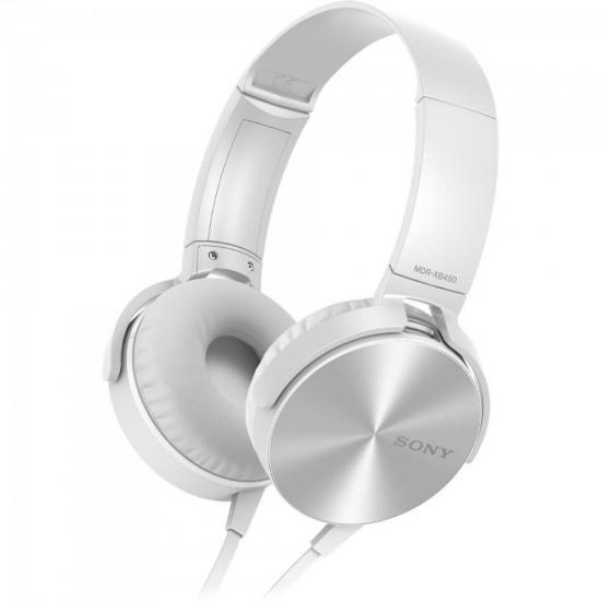 Fone de Ouvido com Microfone MDR-XB450AP EXTRA BASS Branco SONY
